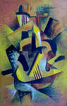 Still Life with Cubist Guitar