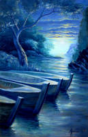 The Three Boats by Valnor