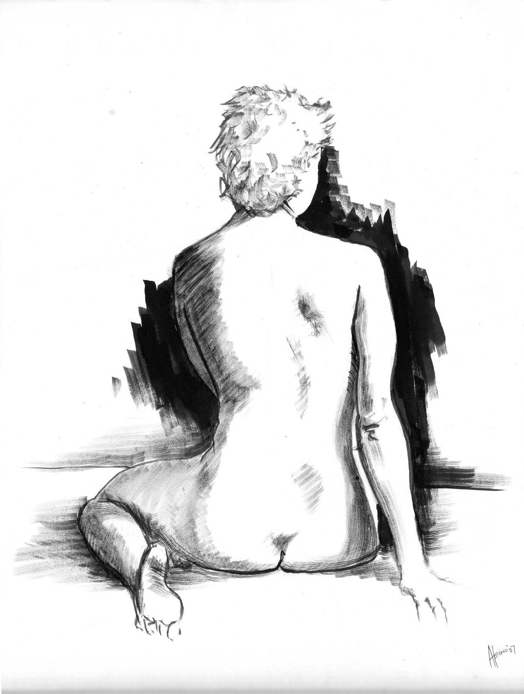 Life Drawing Sitting 07 by Valnor