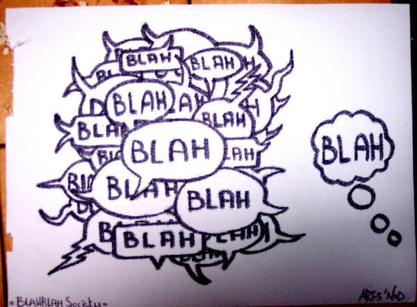 Blah Blah Society by artsn