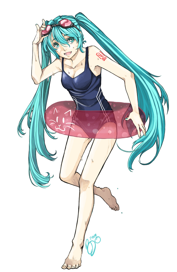 Have A wonderful Summer, from Miku! by AsuHan