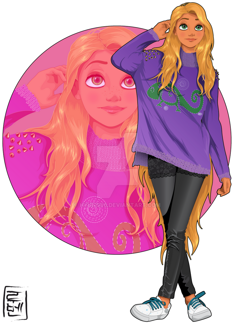 Disney University - Rapunzel by Hyung86