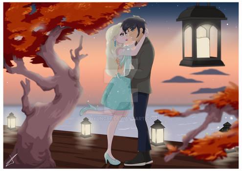 Commission - Elsa and Danny Phatom