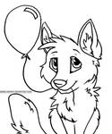 Balloon Puppy Free Lineart