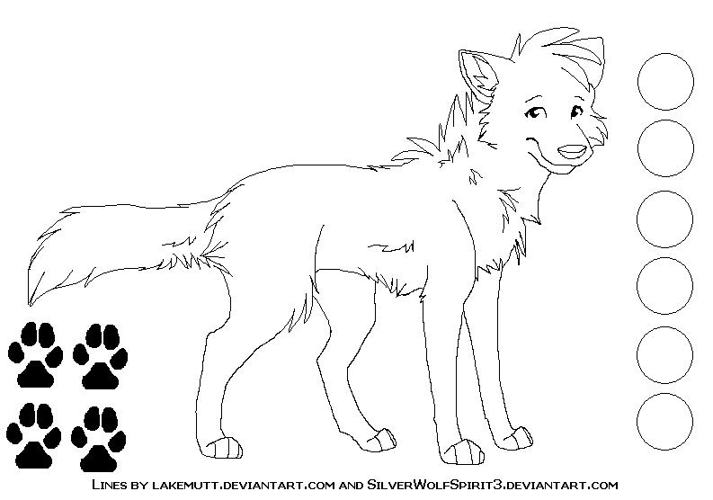Free Canine Ref Lineart 2 by lakemutt