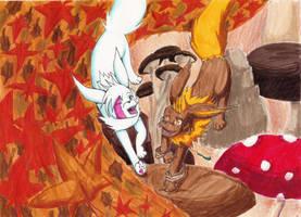 White et l'automne, concours Felinar by Marie-Ortie