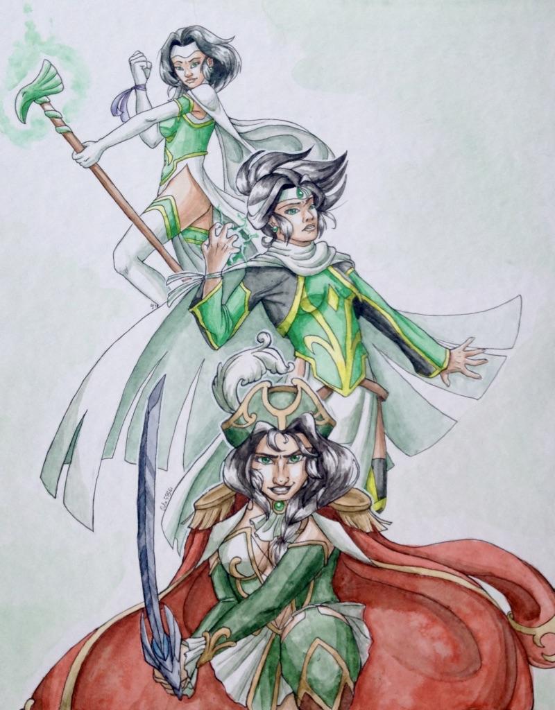 Coloriage Les Legendaires Jadina Adulte