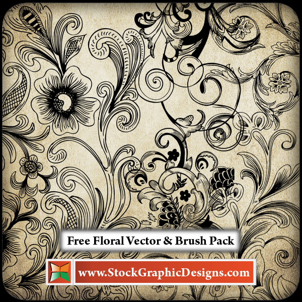Free Floral Brush Pack by Stockgraphicdesigns
