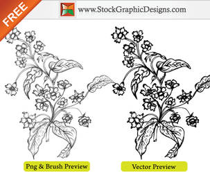 Hand Drawn Sketchy Flowers Brush by Stockgraphicdesigns