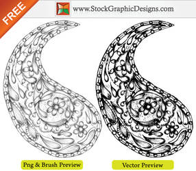 Hand Drawn Sketchy Paisley Designs Brush by Stockgraphicdesigns