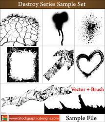 Grunge Frames, Ink Spray, Splatter Vector by Stockgraphicdesigns