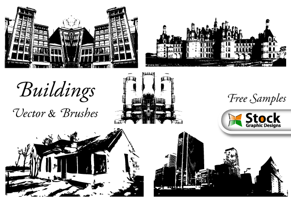 Buildings Brushes by Stockgraphicdesigns