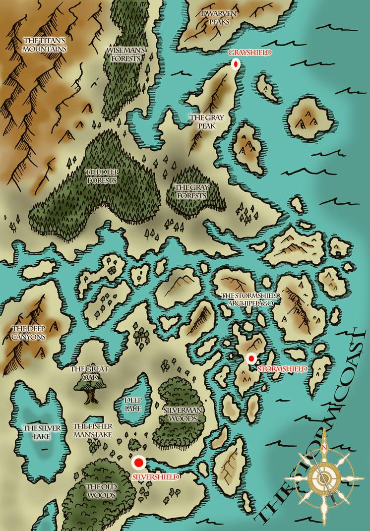 Map of Eastern Denel (Fantasy Map) by ViktorMatiesen