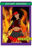 Deviant Universe Villain Trading Card Incendia