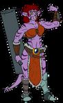 Maheshvari the Barbarian from Space by ViktorMatiesen