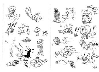 Bored Doodles by ViktorMatiesen