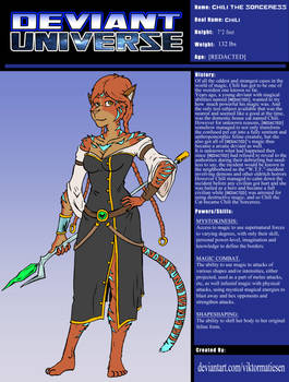 DEVIANT UNIVERSE HERO: CHILI THE SORCERESS