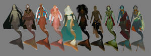 Mermaid concepts by AshKerins