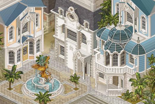 Rococo Pixel Art