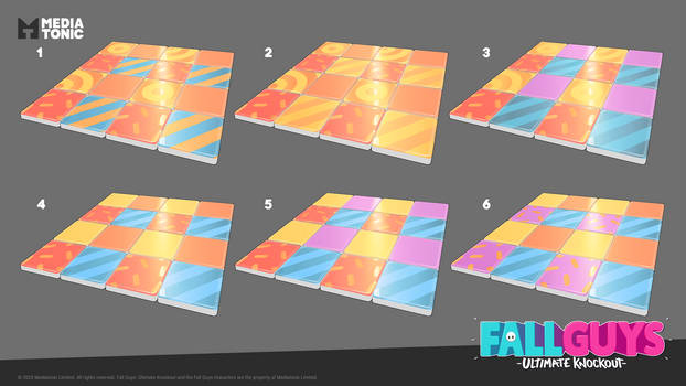 Fall Guys: Tip Toe Tiles Concepts