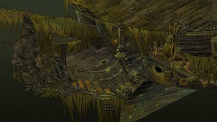 Pixel Pirate Ship
