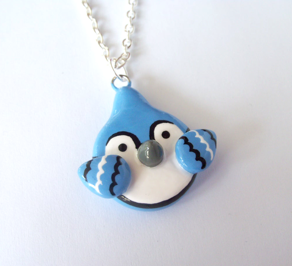 Painted Blue Jay Charm