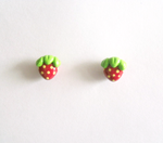 Sweet Strawberry Post Earrings