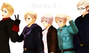 MMD - Nordic 5 by Shichi-4134