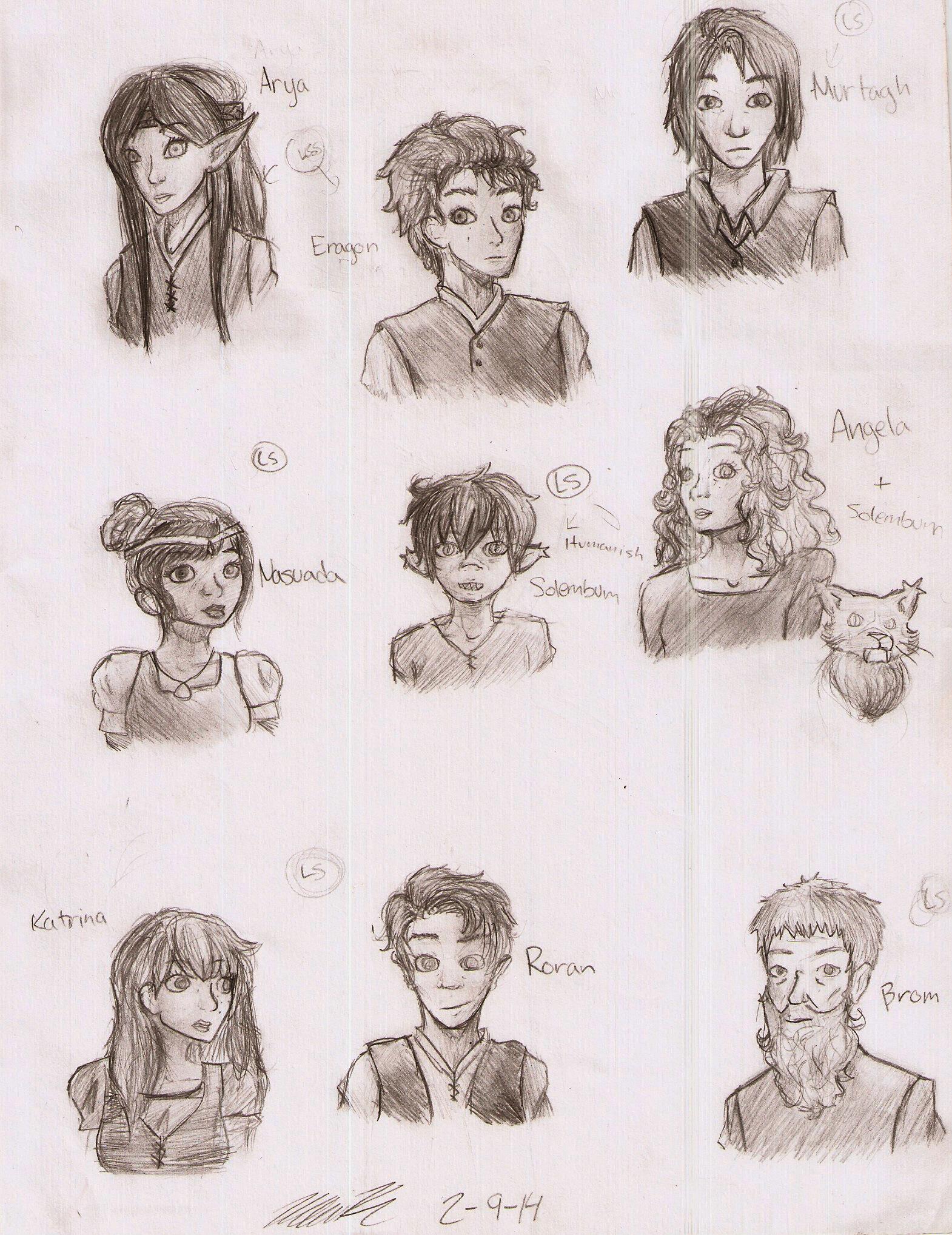 Eragon Book Characters Eragon character conce...