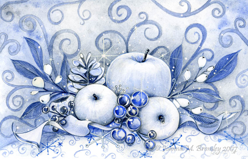 Winter Ice Baubles by JoannaBromley