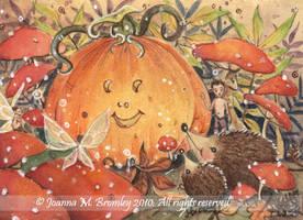 ACEO Halloween Joy by JoannaBromley