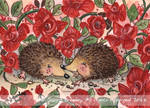 ACEO Hedgehogs Valentine