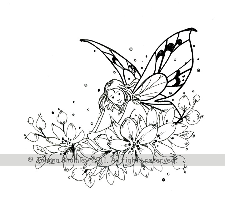 Fairy Blossoms Stamp Design by JoannaBromley on DeviantArt
