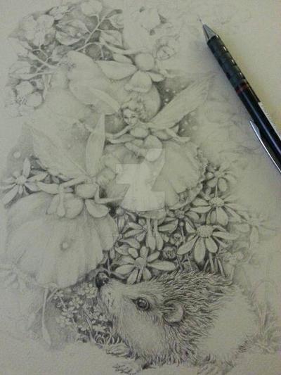 Fuchsia Fairies WIP by JoannaBromley