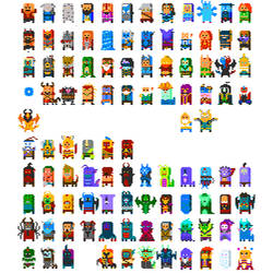 True 8 bit Dota 2 heroes by legice