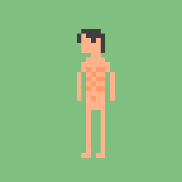 Naked profile picture by legice