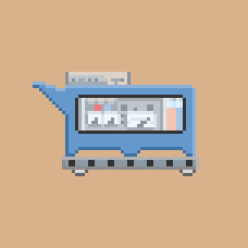 Team Fortress 2 concept cart pixelated by legice