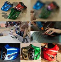 work process: Sub-zero masks