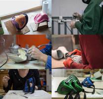 work process: Scorpion mask