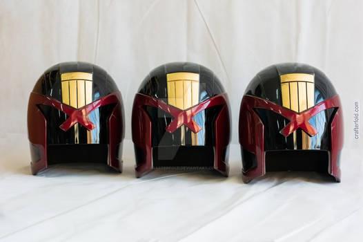 judge Dredd helmets