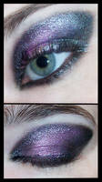 Black and Purple Makeup Eye
