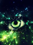 Green-Blue Nebula Eye