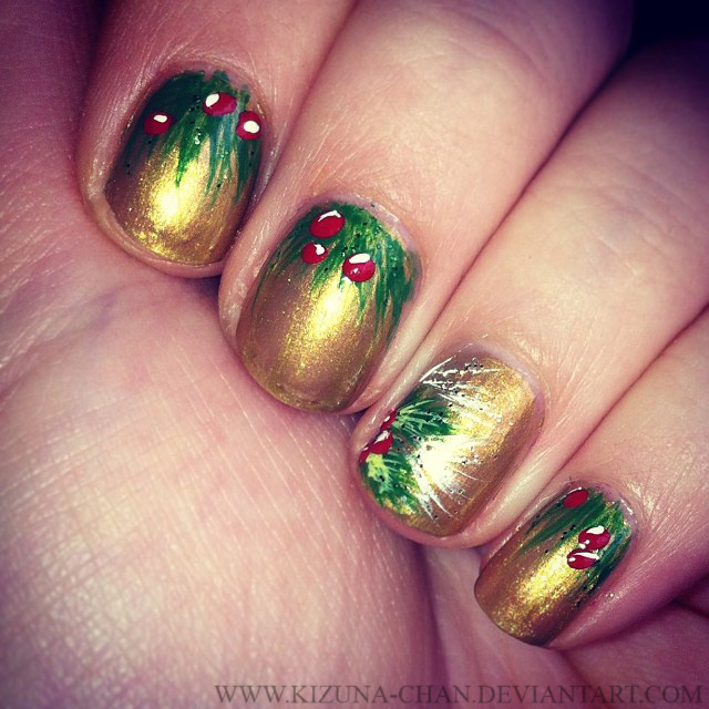 Have a holly jolly christmas nails by kizuna chan on deviantart have a holly jolly christmas nails by kizuna chan prinsesfo Gallery