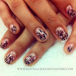 Spring Flower Gel Nails