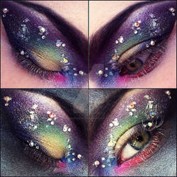 Galaxy Day and Night Makeup