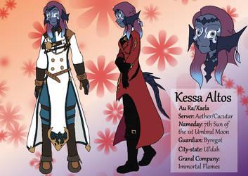 FFXIV Character: Kessa Altos by Vye-Brante