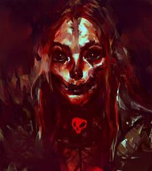 Demonic Girl Sketch 3