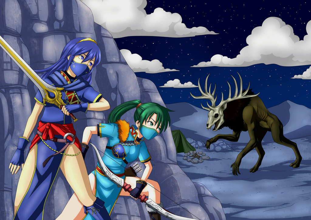 Lucina and Lynn hide from the wendigo