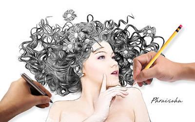 girl art drawing 1 by phraisohn