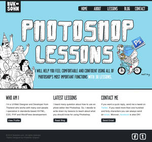 Photoshop Lessons Web Design Homepage